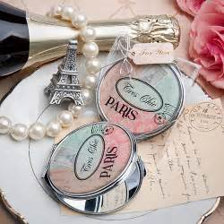 pretty themed mirror compact favor bridal