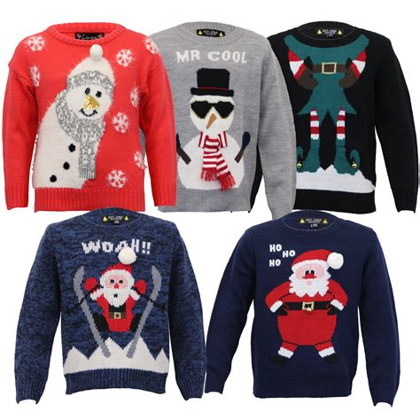 waitrose child christmas jumper boys jumper santa snowman knitted reindeer 3d novelty ebay