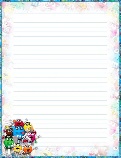 printable recipe stationery 17 best images about lined writing papers on pinterest