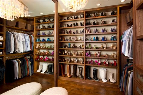Closets San Diego by Robeson Design Fabulous Shoe Storage Traditional