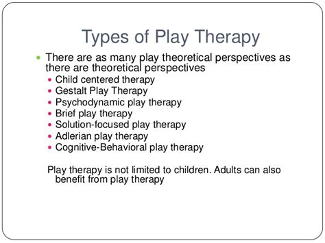 different types of therapy play therapy