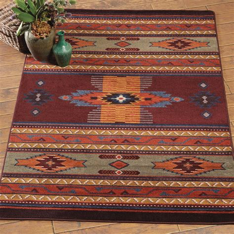 western rugs southwest rugs burgundy rug collection lone western decor