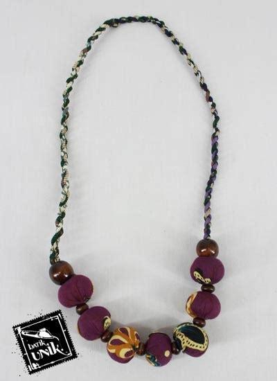 Kalung Coklat kalung batik etnik tali untir motif kotemporer coklat