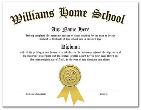 custom home school diploma certificate homeschool