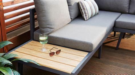 palermo grey  hand corner outdoor dining bench