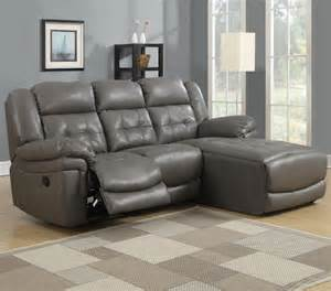 grey bonded leather match reclining sofa lounger