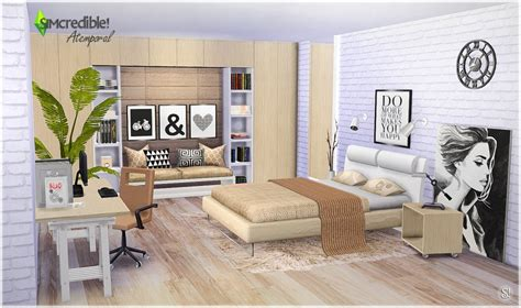 bedroom blogs my sims 4 atermporal bedroom set by simcredible designs