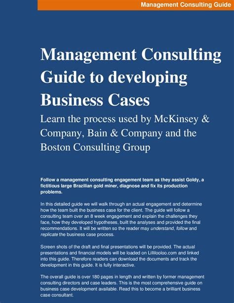 Consulting To Management management consulting guide by michael boricki issuu