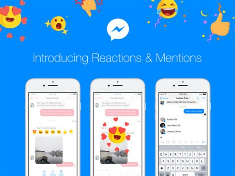 fb reaction bot site introducing message reactions and mentions for messenger