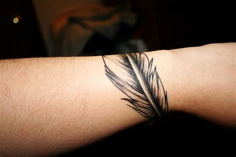 tattoo bands around wrist feather band wrist arm ink spiration
