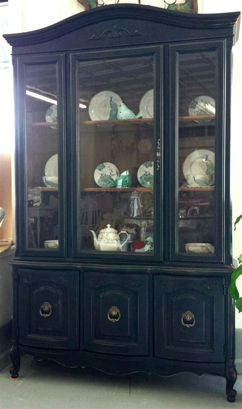 pottery barn china cabinet 1970 s china cabinet painted pottery barn black