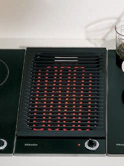 miele km   combiset electric barbecue cooktop