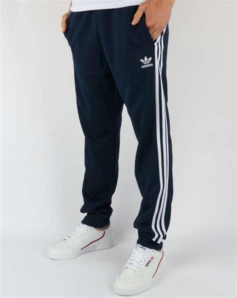 adidas originals superstar track pants navywhite