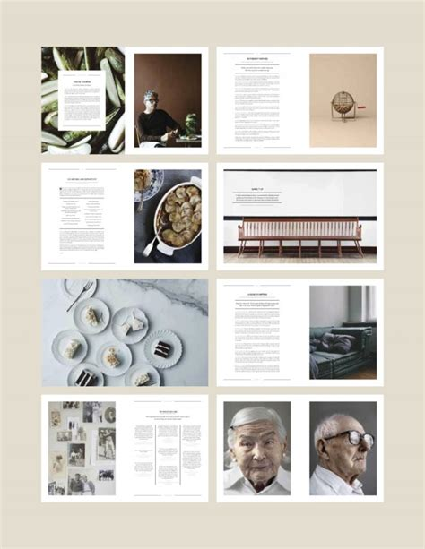 layout majalah simple the minimalist rustic nature of their spreads have real