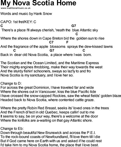 bluegrass songs with chords my scotia home
