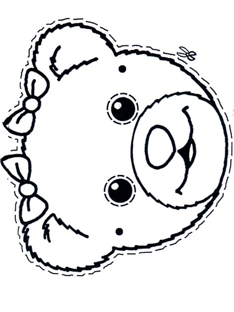 free coloring pages of teddy bear mask