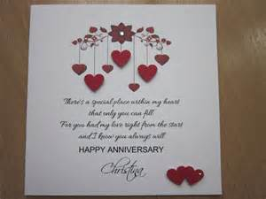 Handmade Anniversary Gifts For - handmade cards for anniversary weneedfun