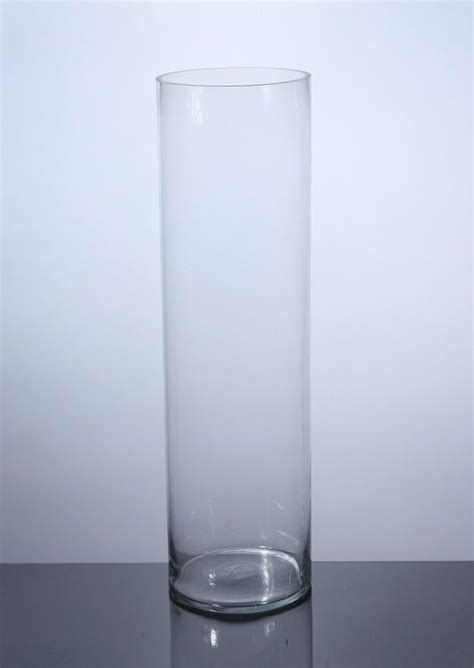 Cylinder Vase by Pc828 Cylinder Glass Vase 8 Quot X 28 Quot 4 P C Cylinder Glass
