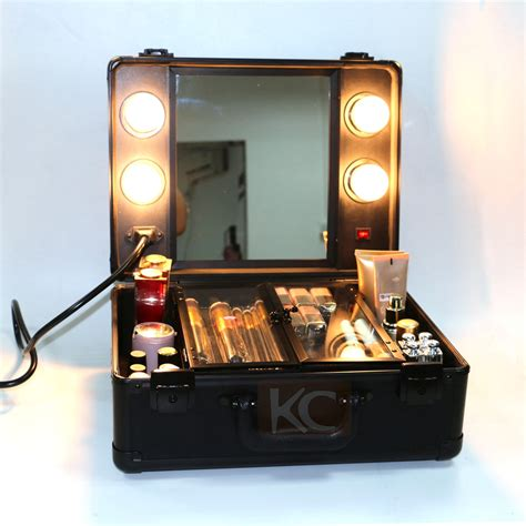 makeup box with lights and mirror lighting rolling makeup case with light mirror buy