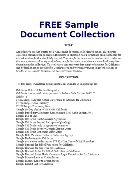 California Probate Code Section 16061 7 by Free Sle Document Collection List California