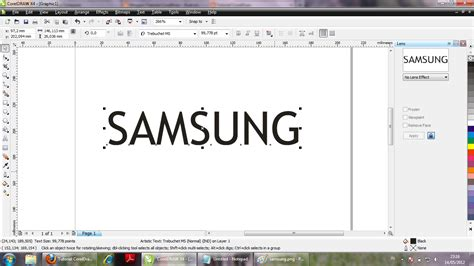 membuat outline text corel draw tutorial coreldraw membuat logo samsung di coreldraw