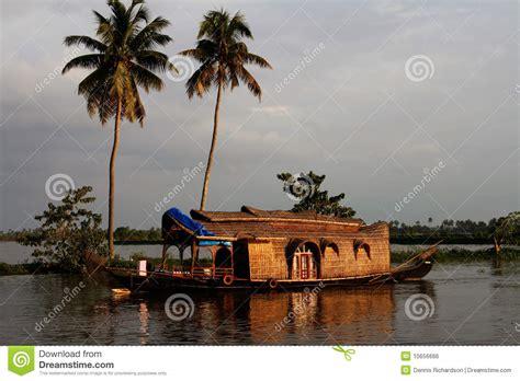 vergunning woonboot woonboot india stock foto afbeelding bestaande uit