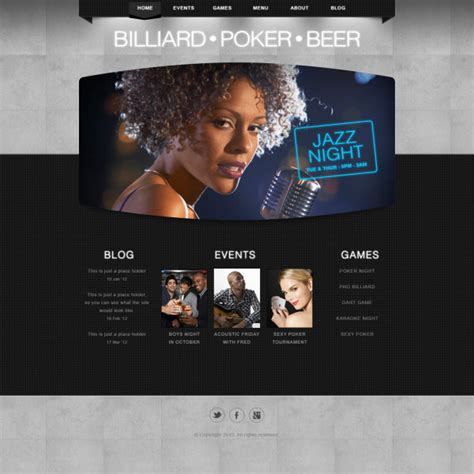 templates for entertainment website classic entertainment website psd template web elements