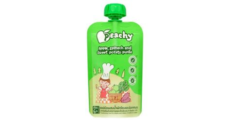 Peachy Pouch Apple Spinach Sweet Potato Puree jual murah peachy apple spinach sweet potato puree