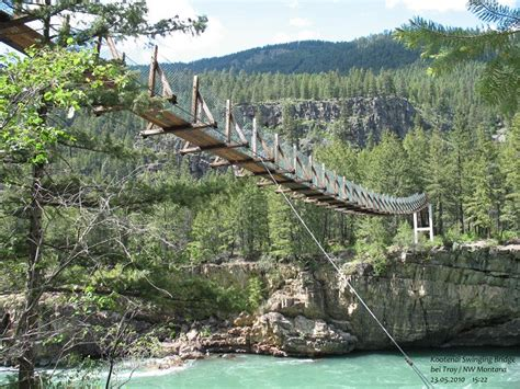 kootenai falls swinging bridge kootenai falls swinging bridge troy structurae