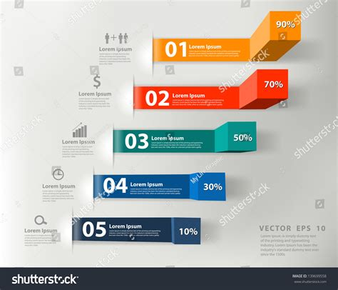 modern template report design table graph modern business steps success charts graphs stock vector