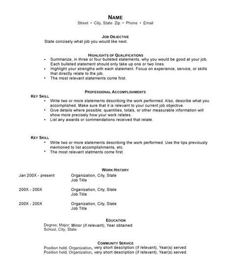 stay at home resume template why hybrid resumes are the best resume format of 2016