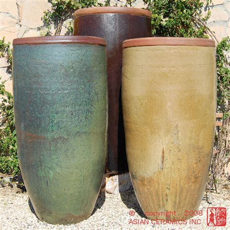 Large Decorative Outdoor Planters by Planters Rustic Jar Large Tapered Planter