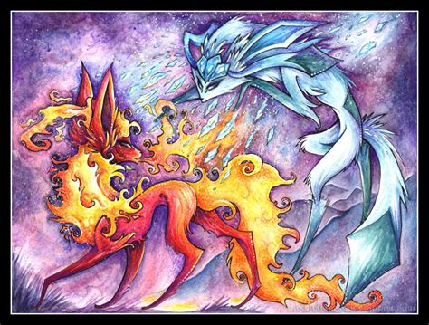 fire and ice by iceandsnow on deviantart