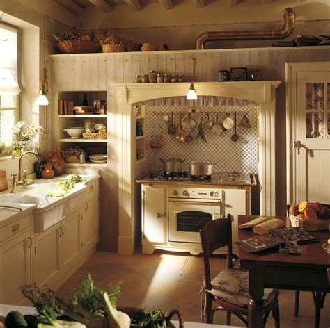 country style white kitchen with modern wood base