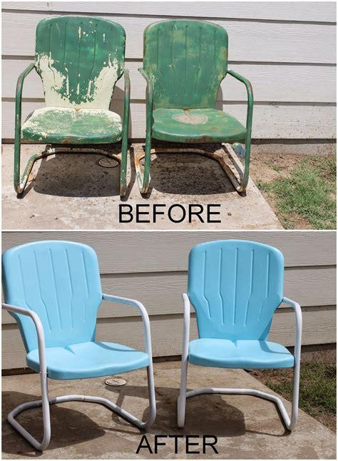 Paint Patio Furniture Metal - repaint metal patio chairs diy paint outdoor metal