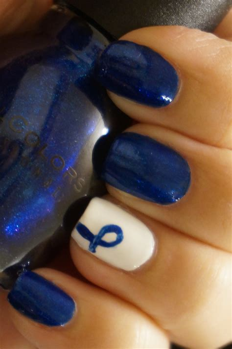 colon cancer awareness color colon cancer awareness month coloured nails