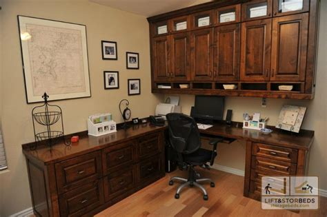 Custom Home Office Desk Custom Office Furniture And Entertainment Centers Lift Stor Beds