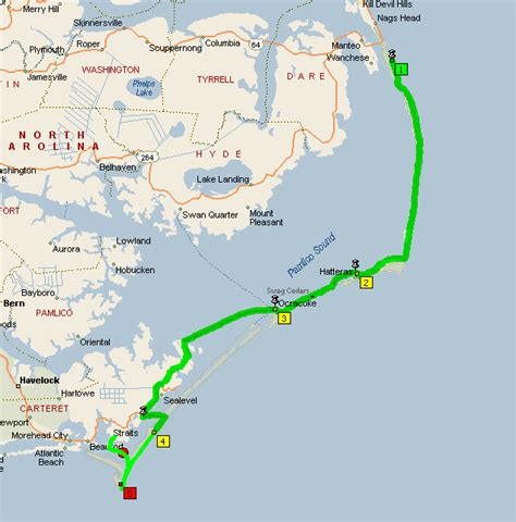 map of outer banks outer banks cape lookout national seashore expedition expedition portal