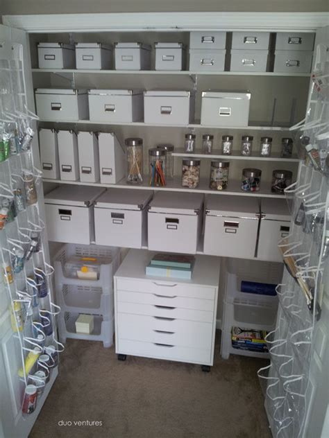 arts and crafts storage for craft closet storage contemporary closet atlanta