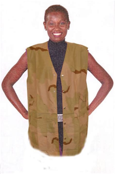Hair Stylist Vest With 5 Snaps by Shoo Cape Chemical Capes Hats