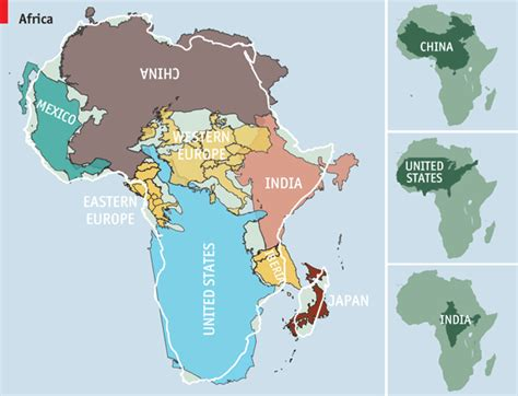 map world real size cartography the true true size of africa the economist