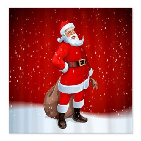 santa claus shower curtain santa claus shower curtain on