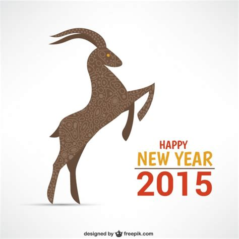 happy new year goat happy year of the goat vector free