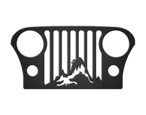 jeep grill art jeep grill outline bing images