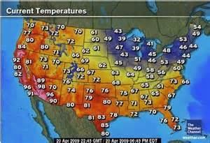 Temperature Map Of Usa by United States Weather Map Bing Images