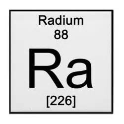 periodic table radium tile coaster by science lady
