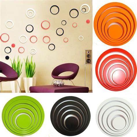 Sticker 3d Wallpaper Dinding Circle Ring 5pcs sticker 3d wallpaper dinding circle ring 5pcs black jakartanotebook