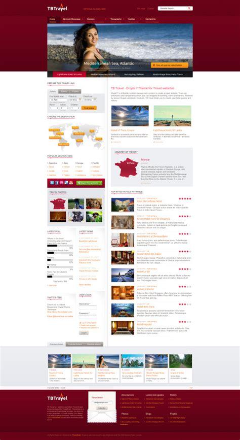 drupal theme travel sneak peak on responsive drupal theme tb travel themebrain