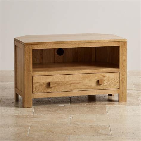corner tv cabinet oakdale corner tv cabinet in solid oak oak furniture land