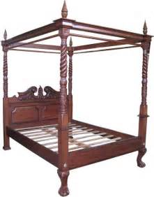 Mahogany Bookcases Mahogany Four Poster Canopy Bed B021 Lock Stock Amp Barrel
